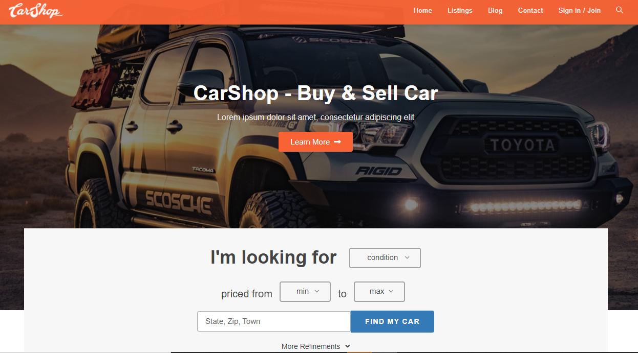 Car Dealer Shop
